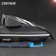 Мужские солнцезащитные очки для вождения, поляризационные очки из алюминиево магниевого сплава, спортивные очки с чехлом, 0206, 2019