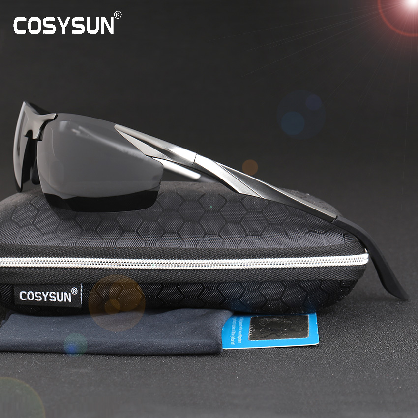 2019 New Aluminum Magnesium Polarized Sunglasses Men's Driving Sunglasses male sun glasses Men Sport Sunglasses with Case 0206