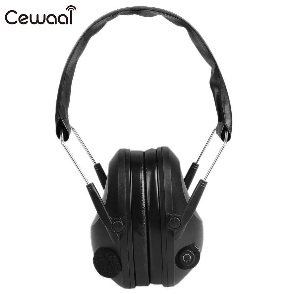 Cewaal Tactical Outdoor Protection Anti-Noise Impact Electronic Earmuff Fold Ear Hearing Sport Hunting Earmuffs Headphone 21SNR