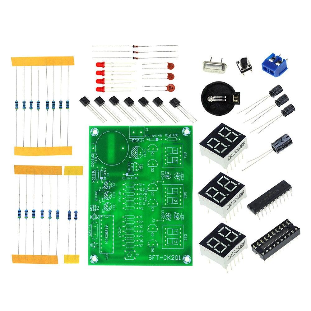 Free Shipping DIY Kits AT89C2051 Elektronische <font><b>Klok</b></font> Digitale Buis <font><b>LED</b></font> Display Suite Elektronische Module