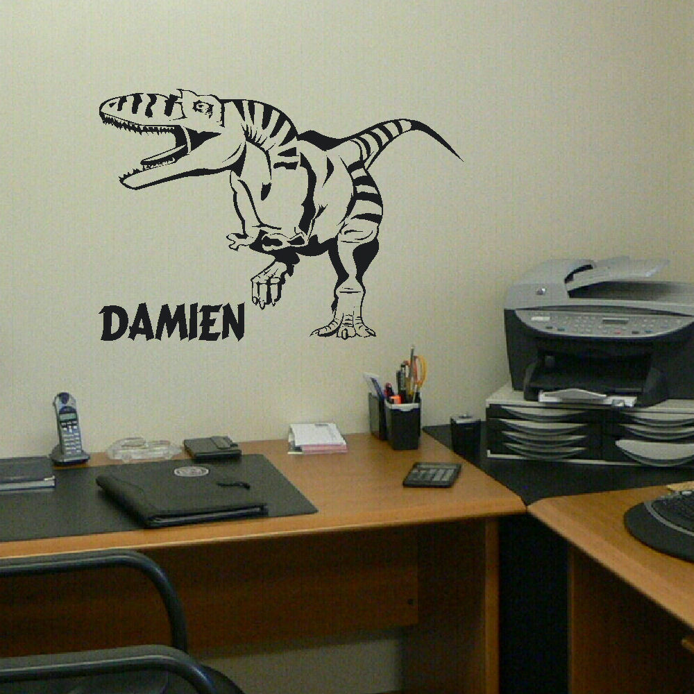Dinosaur Wall Decor custom made personalized dinosaur wall sticker kids boys and girls