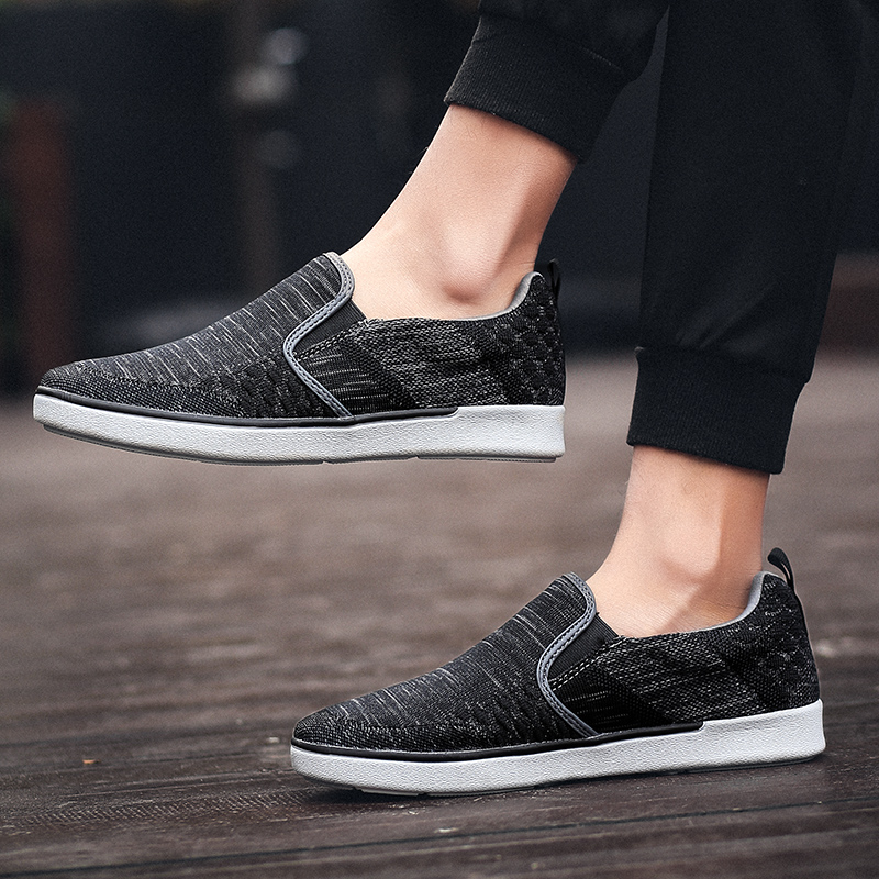 CYYTL Performance Men 39 s Loafers Soft Flyknit Slip On Walking Shoes Spring Casual Male Sneakers Zapatos de Hombre Erkek Ayakkabi in Men 39 s Casual Shoes from Shoes