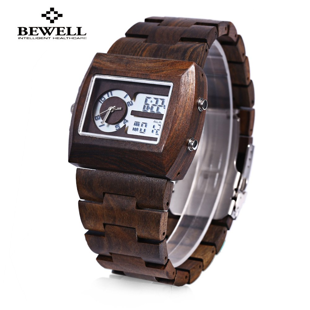 compare prices on trendy mens watches online shopping buy low bewell wood mens watches top luxury brand male wrist watches water resistant trendy luminous watch clock