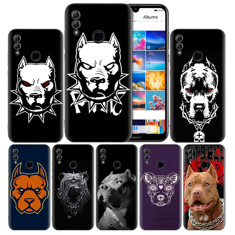 Lovely Dog Pitbull Silicone Case for Huawei Honor 8X 8C 8A 8S 10 10i 20i 20 Play Back Cover Couqe Y9 Y7 Y6 Y5 Lite Pro 2018 2019