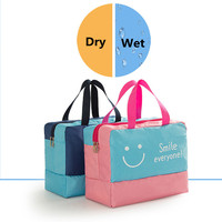 Oxford Waterproof Large Capacity Gym Bag Sport Bags Unisex Swimsuit Dry And Wet Beach Bag Shoes