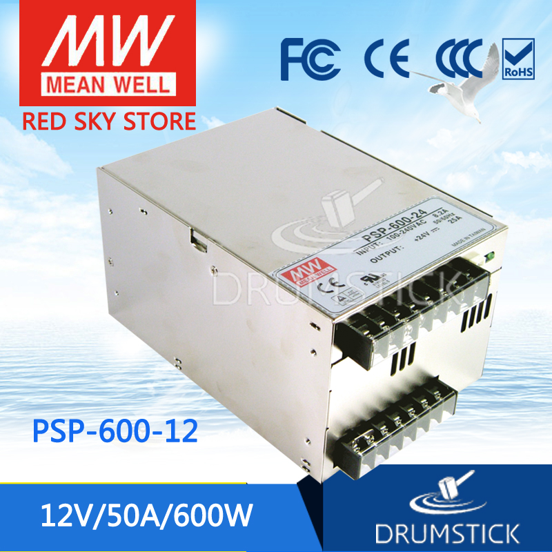 Selling Hot MEAN WELL original PSP-600-12 12V 50A meanwell PSP-600 12V 600W with PFC and Parallel Function Power Supply