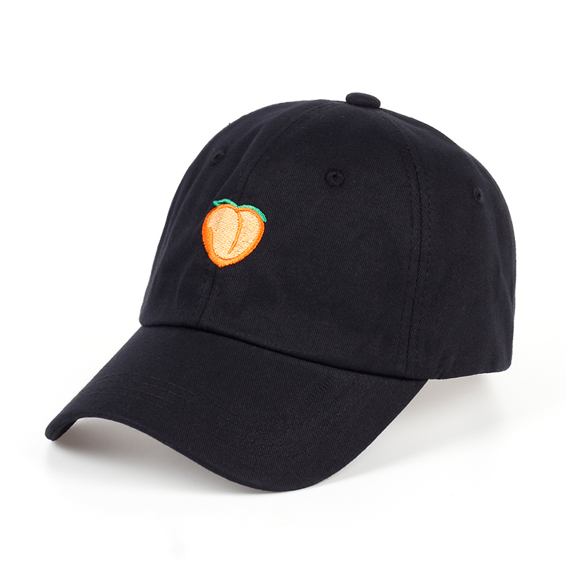 VORON 2017   Pure Color Cotton Cap Peach Embroidery Baseball Cap Fashion Men And Women Adjustable Adult Sunscreen Hip Hop Hat