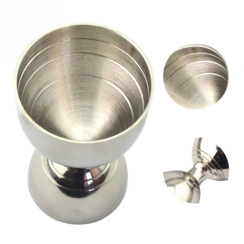 Nuevo rompecabezas de cóctel de acero inoxidable 30 ml/60 ml barra Jigger Bell Jigger Medición de licor Shot Cup Drink Mixer Measurer #20