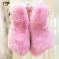 JKP 2018 Autumn and winter new children's fur vest fashion girl rabbit fur vest waistcoat baby rabbit fur short jacket MJ 03