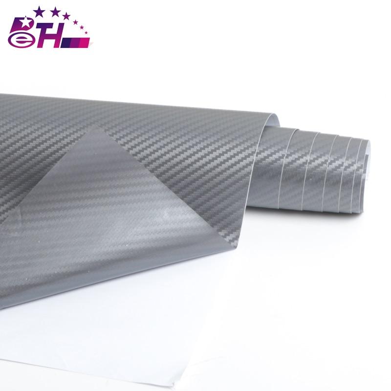 127cmx15cm 3D Car Film Carbon Fiber Vinyl Film Carbon Fibre Wrap Sheet Roll Film Car Stickers Motorcycle Car Styling Accessor