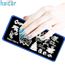 Christmas DIY Nail Art Image Stamp Stamping Plates Manicure Template  g6930