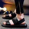 Летом Стиль Сандалии Мужчины Новый Дизайн Sandalias Hombre Пляж Обувь Мужская Сандалии Бренд Кожаные Сандалии Для Мужчин Обувь Zapatos 2016
