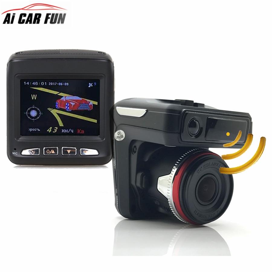 Russian Voice 3 In 1 Car DVR Camera Anti Radar Detector Laser HD 720P Built-in GPS Logger Alarm System Digital Video Recorder цена