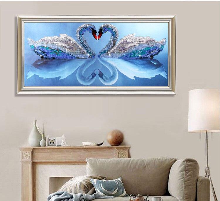 5d diy mosaic art needlework diamond painting swan rhinestone cross stitch  animal wedding diamond swans embroidery new year gift-in Diamond Painting  Cross ... a4b7c2a8c31c
