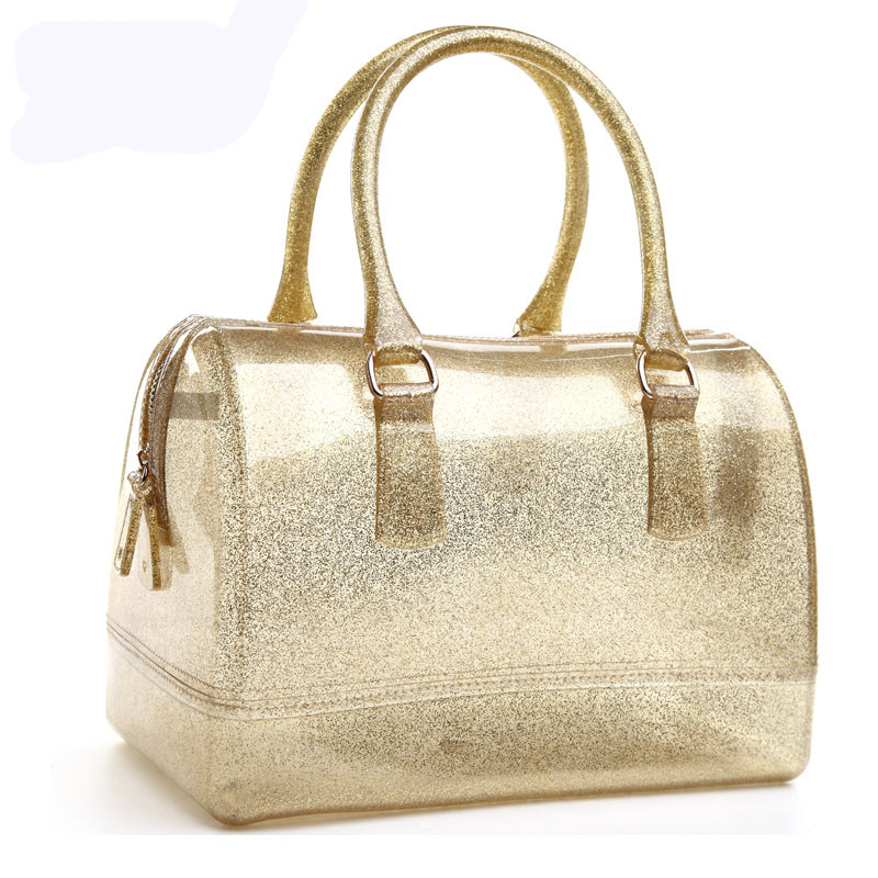 2016 new fur Jelly women messenger bags feminine fashion leisure crystal font b handbag b font