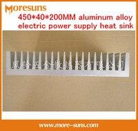 Высокая мощность промышленных Электрический радиатор 450*40*200 мм алюминиевый сплав электроснабжения теплоотвод производства электроники