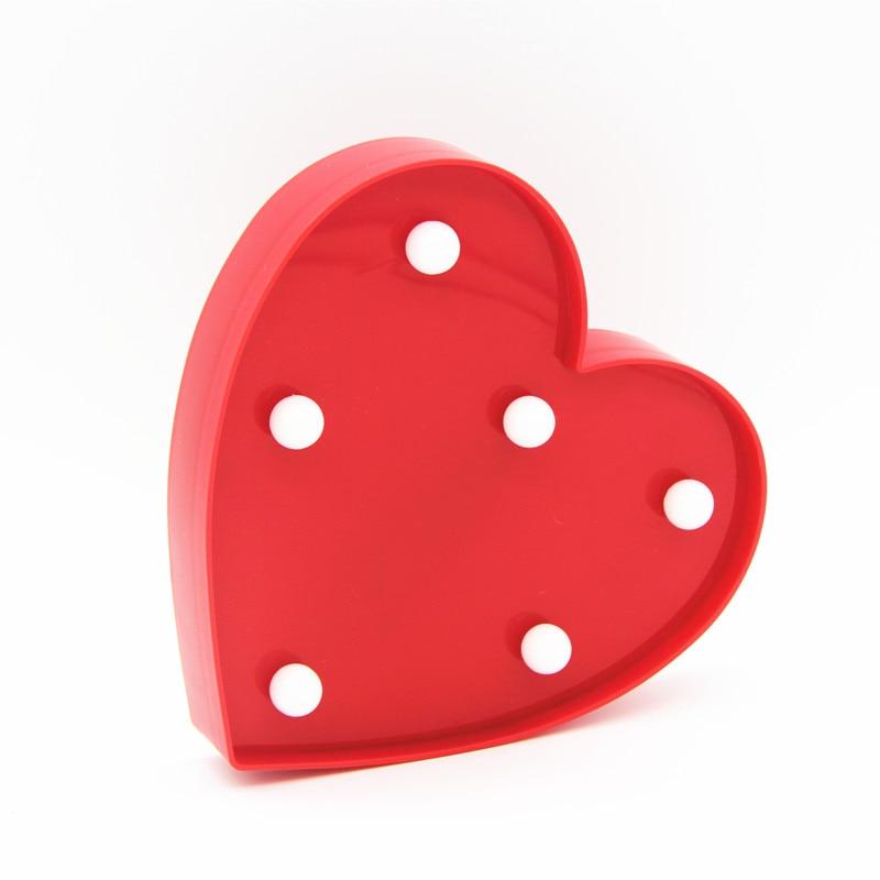 ZESOL Lucu 3D Love Heart Marquee meja LED lampu malam lampu bateri - Pencahayaan perayaan - Foto 2