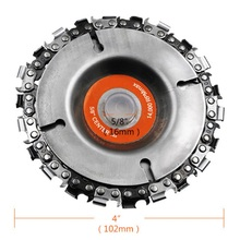 4 Inch 22Tooth Disc Fine chain saw for BOSCH MAKITA DEWALT HITACHI METABO Milwaukee WORX Hilti Ryobi Carving Culpt Angle grinder