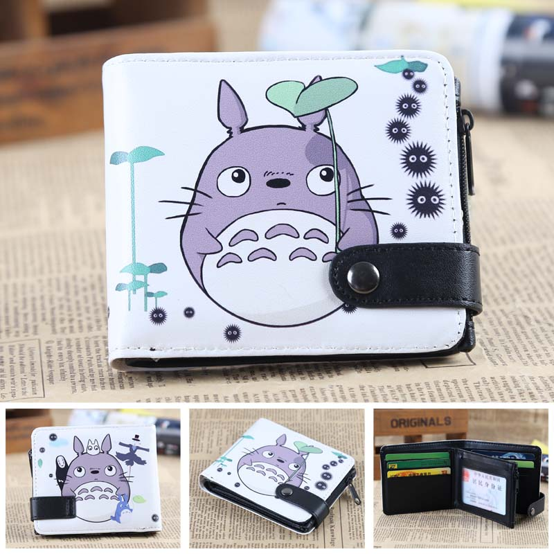 Anime My Neighbor Totoro PU Short Zero Wallet/Coin Purse/Multilayer Double-button Wallet my neighbor totoro pu purse tonari no totoro penny wallet with button type a