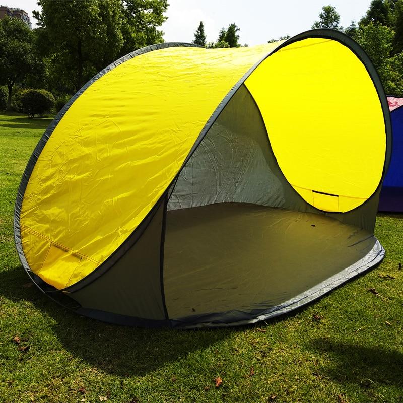 Big pop up beach tent 2-3 person 220x120x100cm camping tent portable outdoor lightweight ...