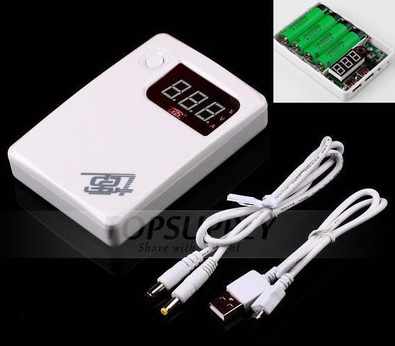 Qidian 184 3a Mobile Power Bank 18650 5v 12v Battery Case