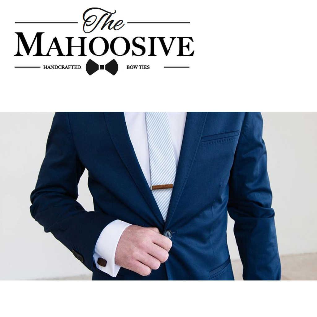 Mahoosive drewniane krawat klip dla mężczyzn Spinka do krawata drewna krawat klipy Pin dla mężczyzn prezent