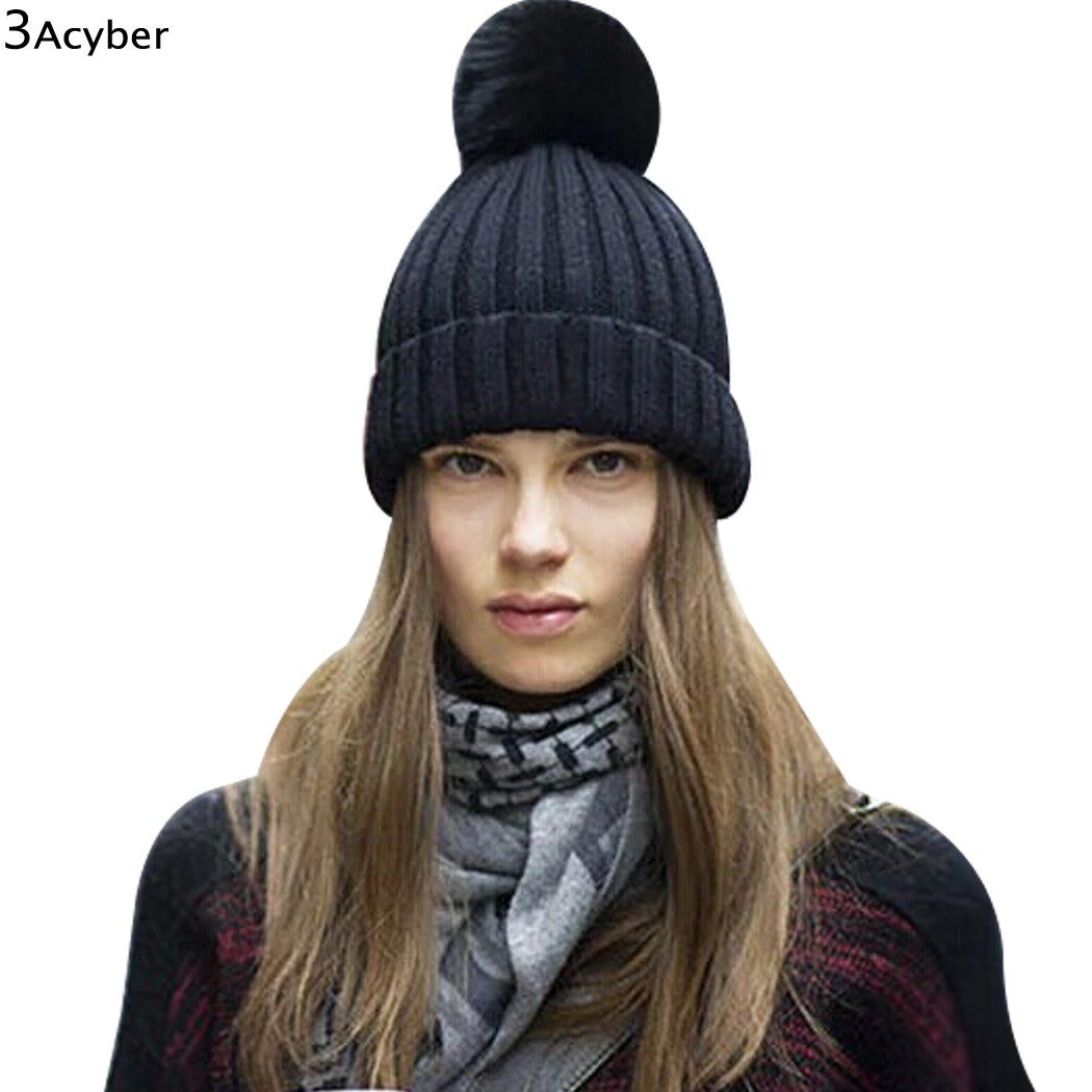 Women Winter Hat Cap Crochet Knitted Warm Hat Curl Beanie Knit Ski Skullies 2016 Female Bonnet Casquette Gorros De Lana Mujer knitted winter warm female hat rabbit fur beanie cap woman chunky baggy cap skull gorros de lana mujer bonnet femme beanies cap