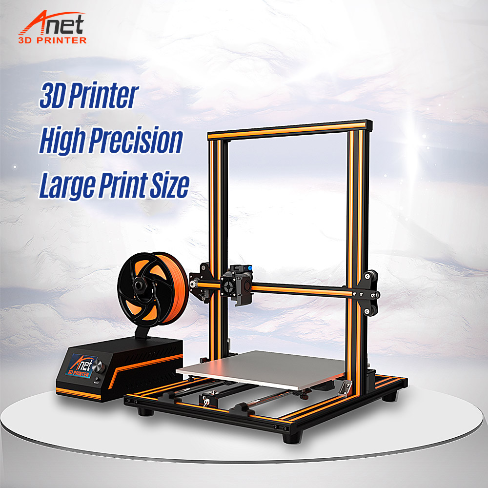 Anet E10 E16 Large 3D Printer 300*300*400mm Multi-language Software Aluminum Alloy Frame Super Building Volume With Filament