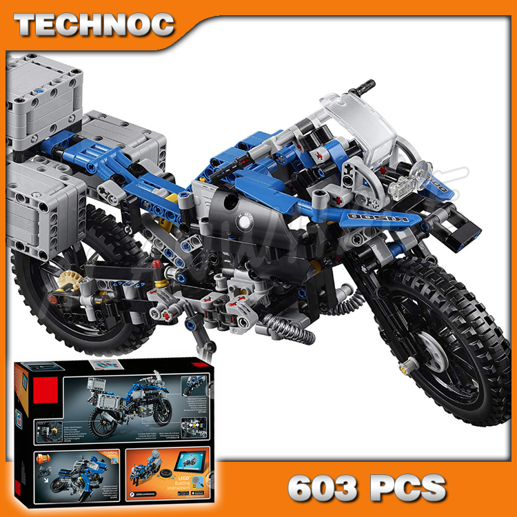 603pcs 2in1 Technic R 1200 GS Adventure 20032 DIY Motorcy Model Building Kit Blocks Gifts Children Toys Compatible with <font><b>Lego</b></font> image