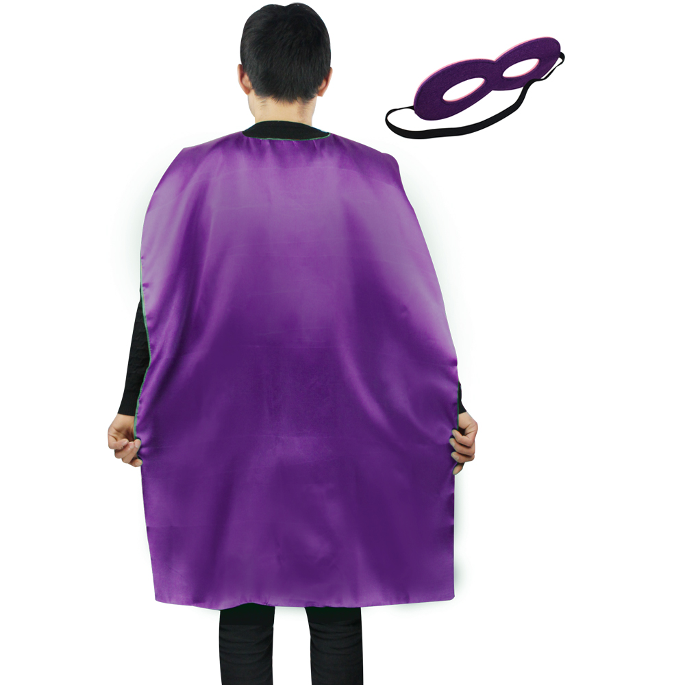 SPECIAL L 35* women cosplay dress Halloween costumes Hulk cape and mask party outfit fancy purple cloak cape