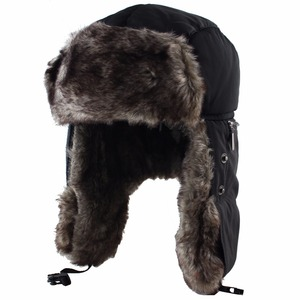 Image 2 - Winter Warm Earflap Bomber Hat Caps for Men Women Russian Thermal Trapper Hat Trooper Snowboard Skiing with Fack Cover Windproof