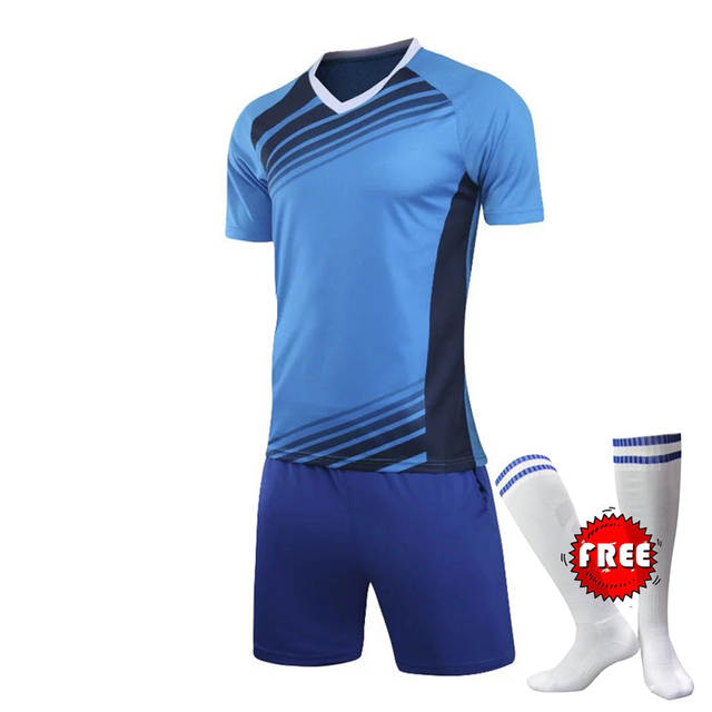Professional Customize Adult kids Breathable Soccer Set 2017 2018 Soccer  Jerseys Uniforms Children Football Kit a16fc6f4f