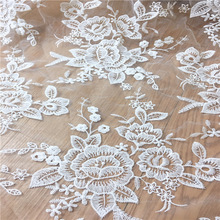 2yards jacquard white wedding lace fabric French embroidery Organza fabric for lace accessories diy Wedding dress clothes MT38 110cm wide wedding dress lace embroidery diy women clothes materials clothing fabric accessories ivory white church happy hour