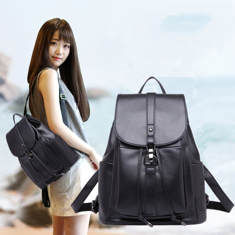 Vogue's Star! Fashion Women Leather Backpack Quality Leather Bags Young Girl Women Backpack School Bag Korean Women Backpack backpack women new backpack girl korean fashion oxford cloth soft leather back black bags