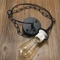 1M Modern Chandelier Lamp Holder E27 E26 Lamp Base Edison Ceiling Rose Chain Pendant Light Bulb