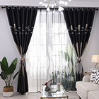 Leaf Print Curtains Window Screening Room Darkening Thermal Insulated Grommet Curtains LBShipping