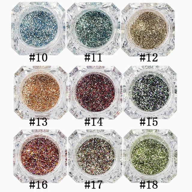 Nail Glitter Powder Platinum