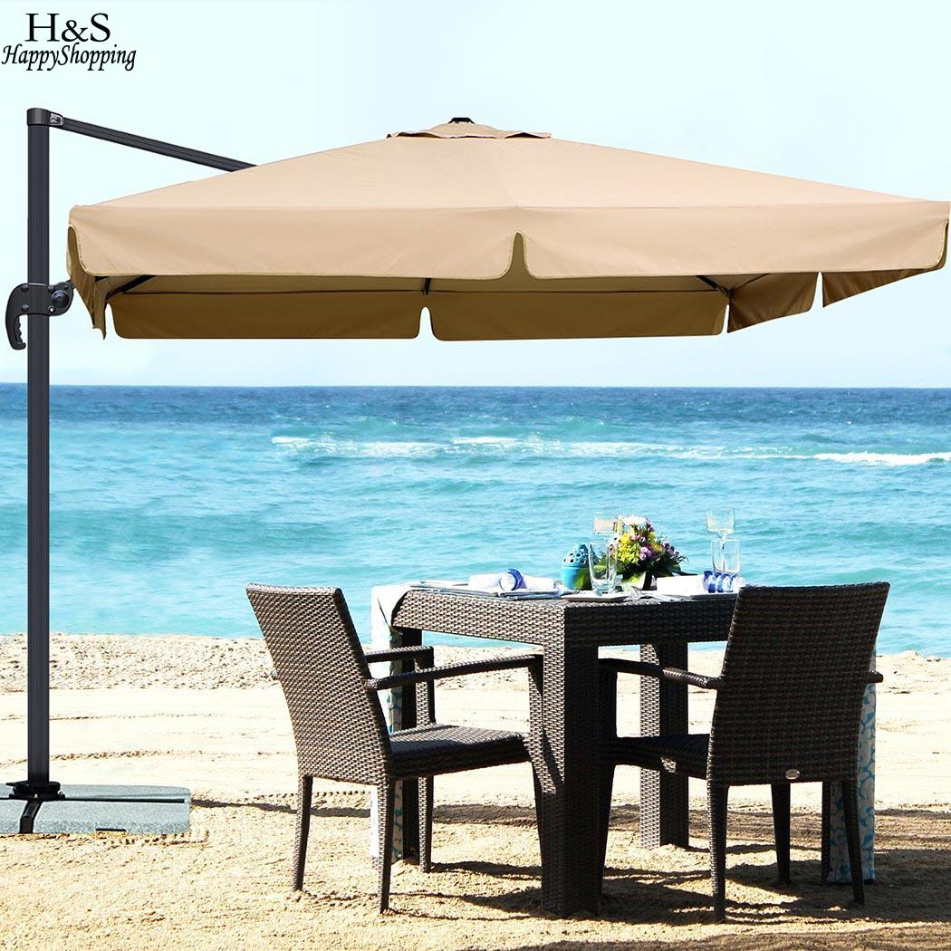 Camping Sun Shade Parasol Sun Shelter 3M Waterproof Garden Camping Patio Sun Shade Hanging Umbrella