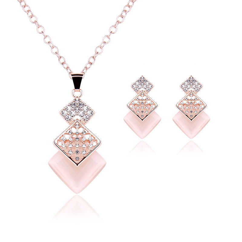 Big Sale Wedding Jewelry Sets  Necklace/Earring Bijouterie Sets for Women Aretes