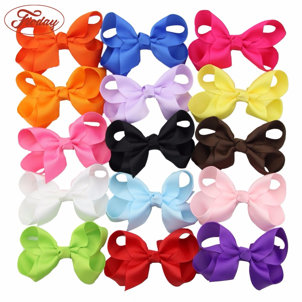 LOTS MIX 15PCS Boutique Hair Bows Girl Baby Alligator Grosgrain Ribbon Headband