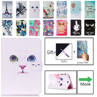 galaxy tab Luxury Owl Flower Tablet Pu Leather Stand Tablet Cover Case For Samsung Galaxy Tab 4 Tab4 7.0 T230 T231 T235 SM-T230 SM-T231 (1)