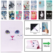 Luxury Owl Flower Tablet Pu Leather Stand Tablet Cover Case For Samsung Galaxy Tab 4 Tab4 7.0 T230 T231 T235 SM-T230 SM-T231 xskemp tablet screen protector film tablet for samsung galaxy tab 4 7 0 t230 t231 t235 9h real tempered glass protective guard