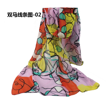 2014 wholesale women's winter large long fashion yellow floral print chiffon scarf female cheap chiffon shawls scarves 160*60cm