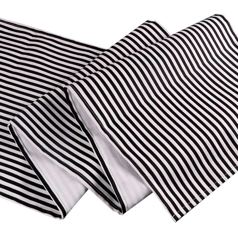 Ourwarm Black & White Striped Table Decorator for Home Decor 35 * - Үй тоқыма - фото 3