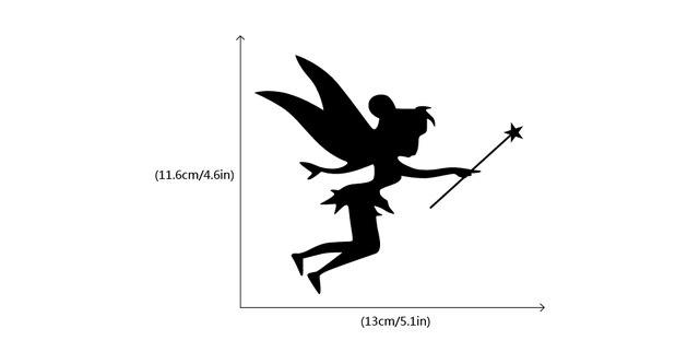 Bonito Anjo De Luz Interruptor Etiqueta Dos Desenhos Animados