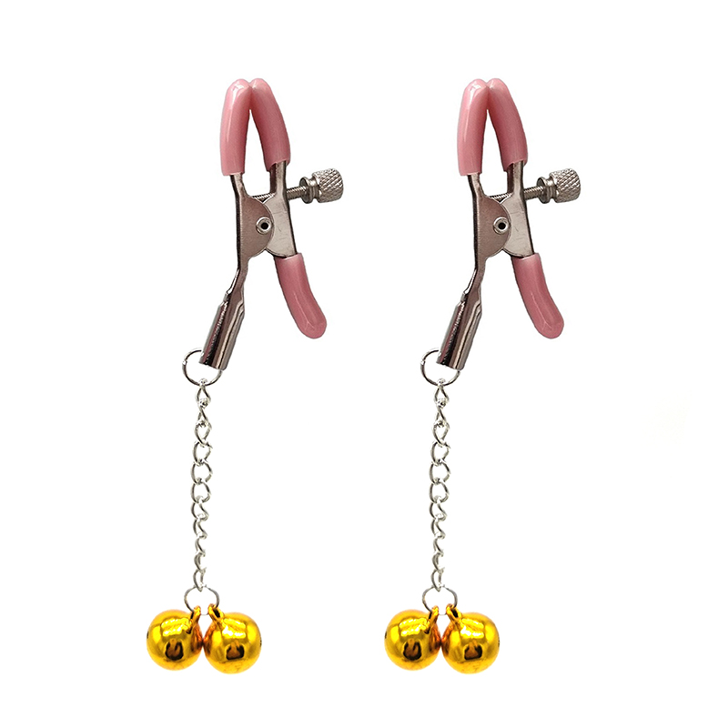 1Pair Sexy Lingerie Nipple Clamps Fetish Bdsm Bondage Set Double Bells Pinzas Pezones Erotic Nipple Clamp Flirting Sex Toys