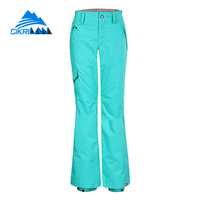 Cikrilan Stylish Thermal Outdoor Sport Snowboard Ski Pants Women Multiple Pockets Pantalones Mujer Windstopper Winter Trousers