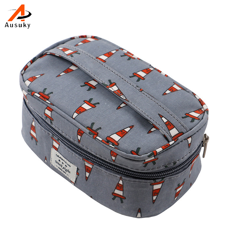 Fashion Brand Professional Cosmetic Bag Double Sides Pouch Beauty Make Up Purse Cosmetic Cases Jewelry Storage Bags 15