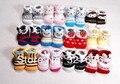 Calcetines de bebé de algodón al por mayor 24 par/lote crib shoes, recién nacido/toddle/infant shoes, fresco calcetines del piso