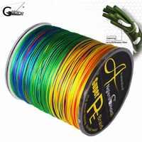 8 fili linea di Pesca Intrecciata 500m Multi Colore Super Strong Giappone Multifilamento PE treccia linea linea di 10LB 20LB 30LB 40LB 100LB 200LB
